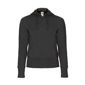 Hooded Full Zip Women black