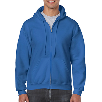 Heavy blend Full Zip Hooded Sweatshirt blauw