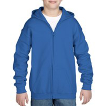 Heavy blend Kid's Full zip Hooded Sweatshirt blauw