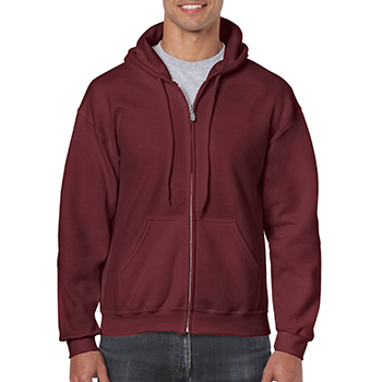 Heavy blend Full Zip Hooded Sweatshirt bordeaux