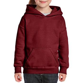Heavy blend Kid's Hooded Sweatshirt bordeaux rood