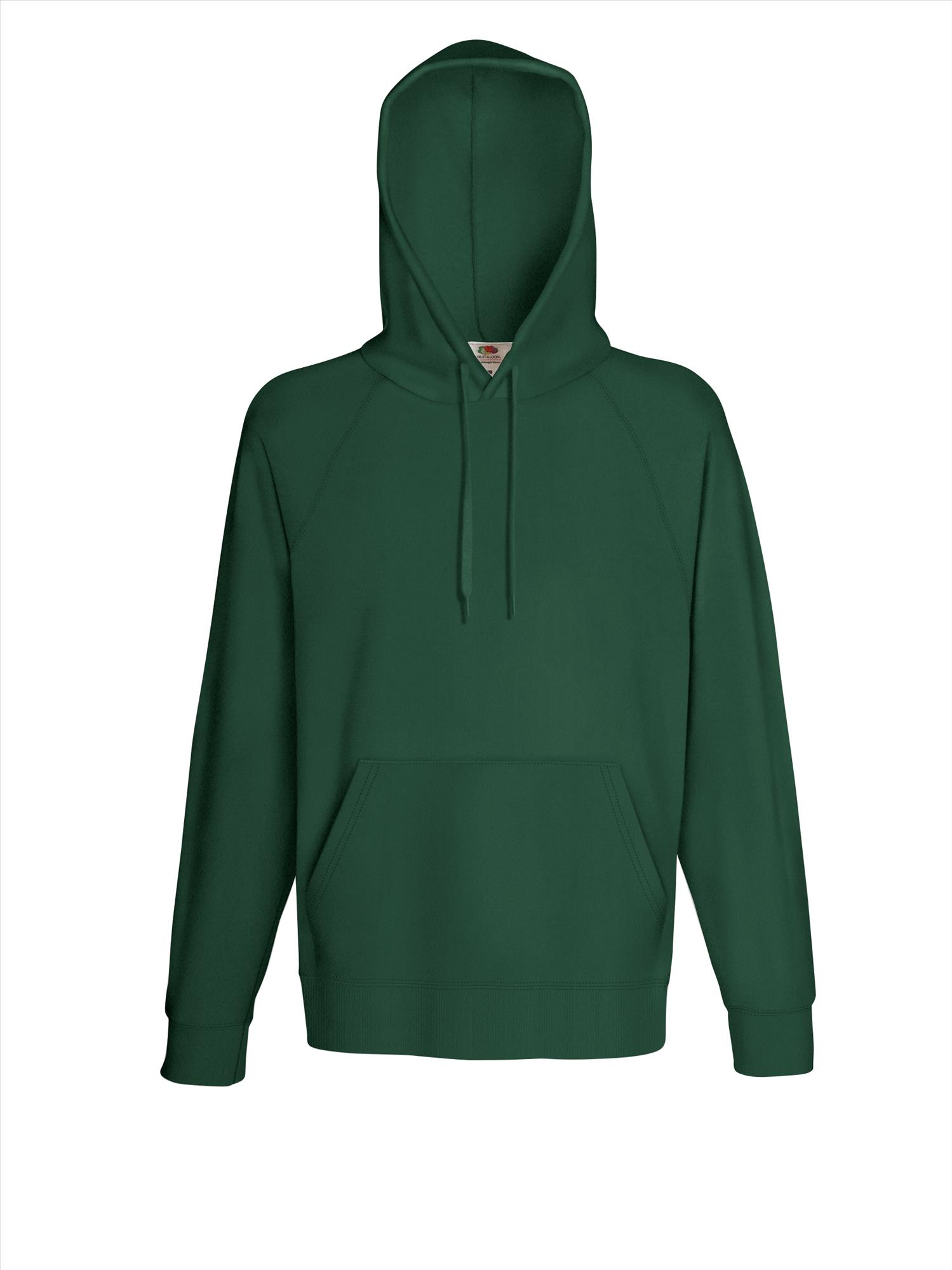 Budget heren hoodie bottle green