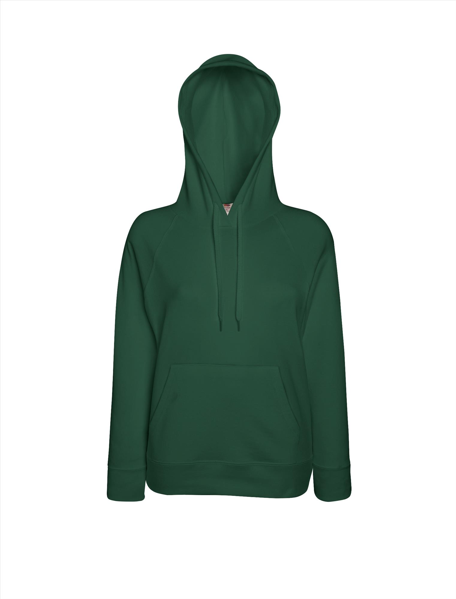 Budget dames hoodie bottle green