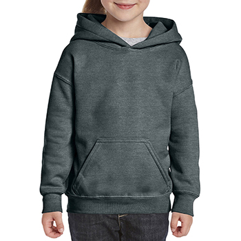 Heavy blend Kid's Hooded Sweatshirt donkergrijs