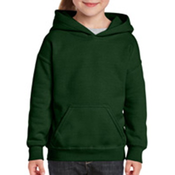 Heavy blend Kid's Hooded Sweatshirt donkergroen
