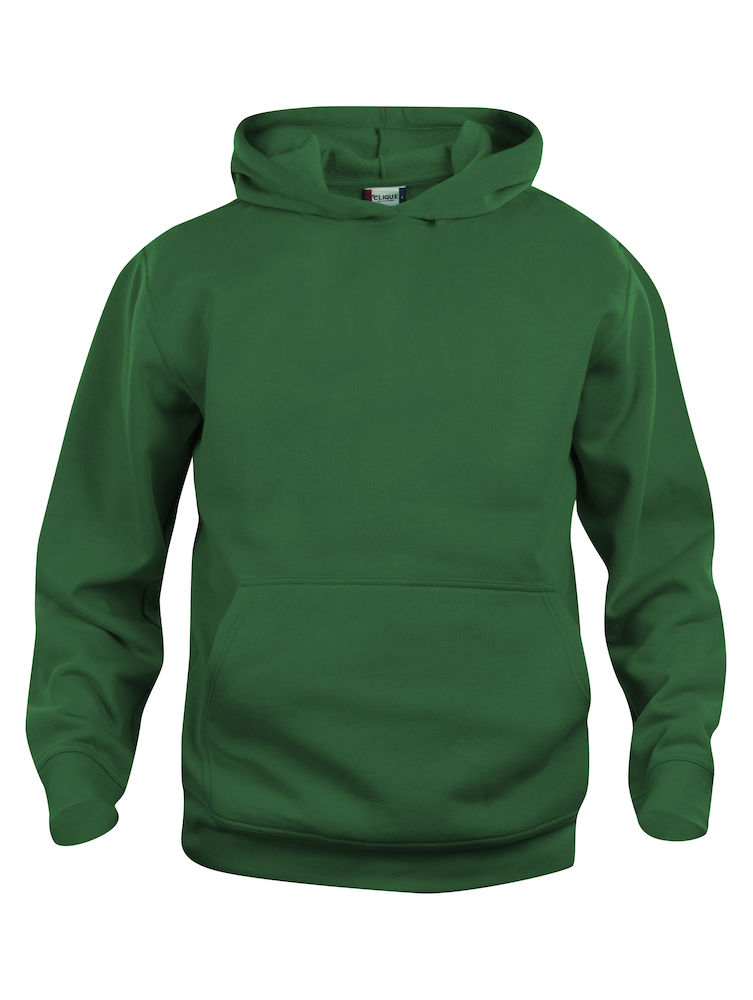 Basic kinder hoodie bottlegreen