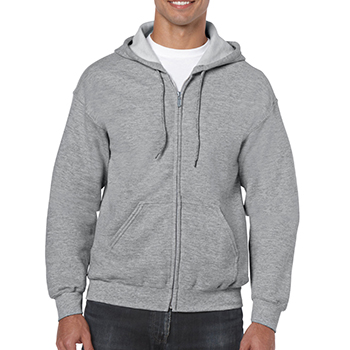 Heavy blend Full Zip Hooded Sweatshirt grijs