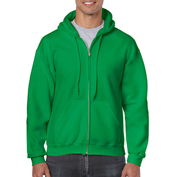 Heavy blend Full Zip Hooded Sweatshirt groen