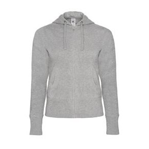 Hooded Full Zip Women Heather grey