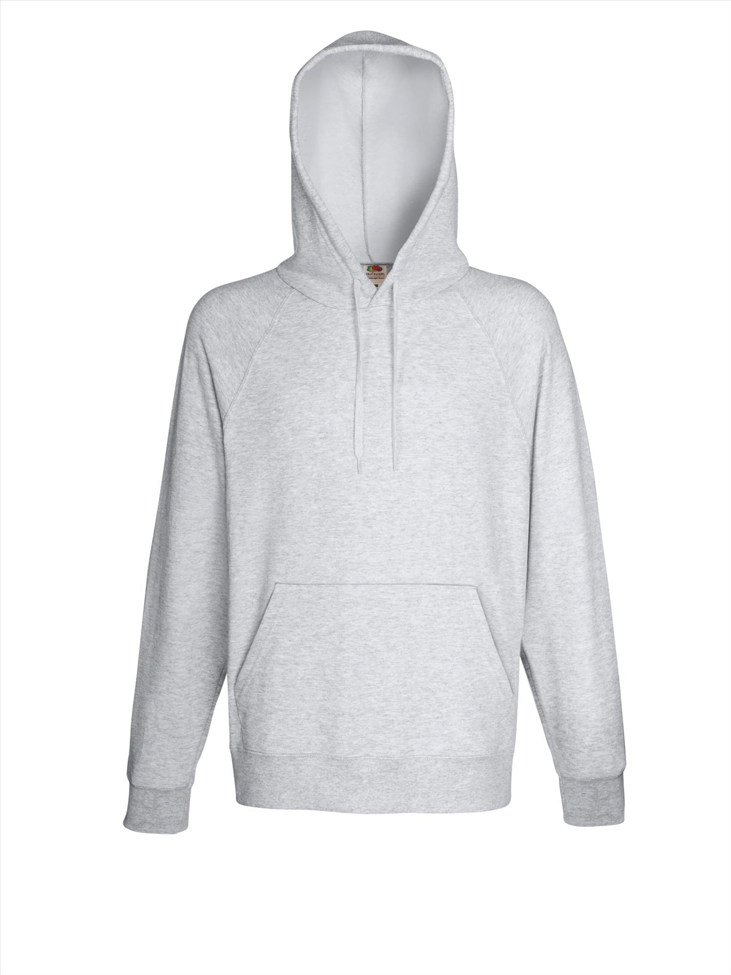 Budget heren hoodie heather grey