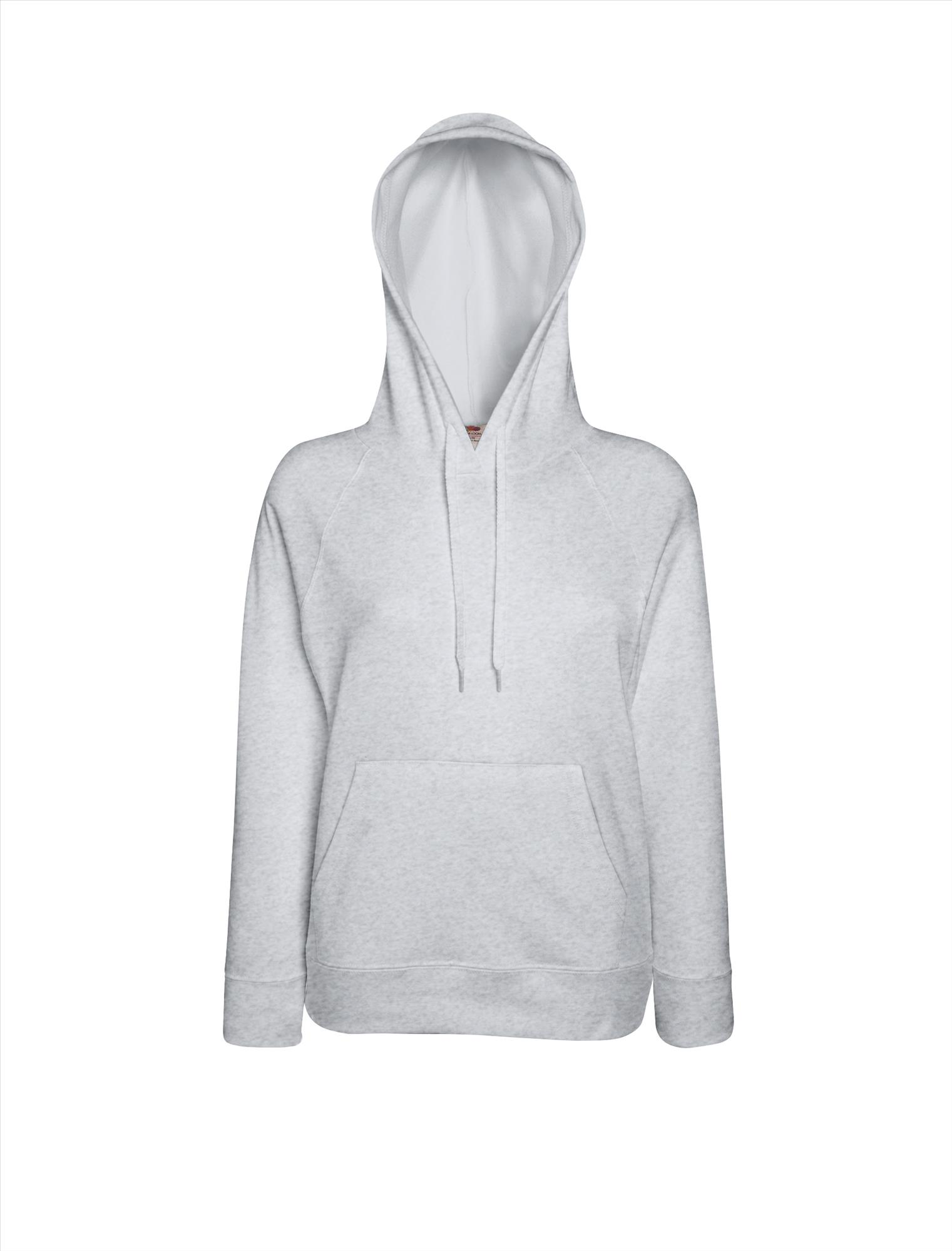 Budget dames hoodie heather grey
