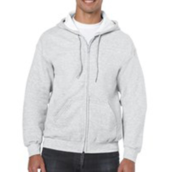Heavy blend Full Zip Hooded Sweatshirt lichtgrijs