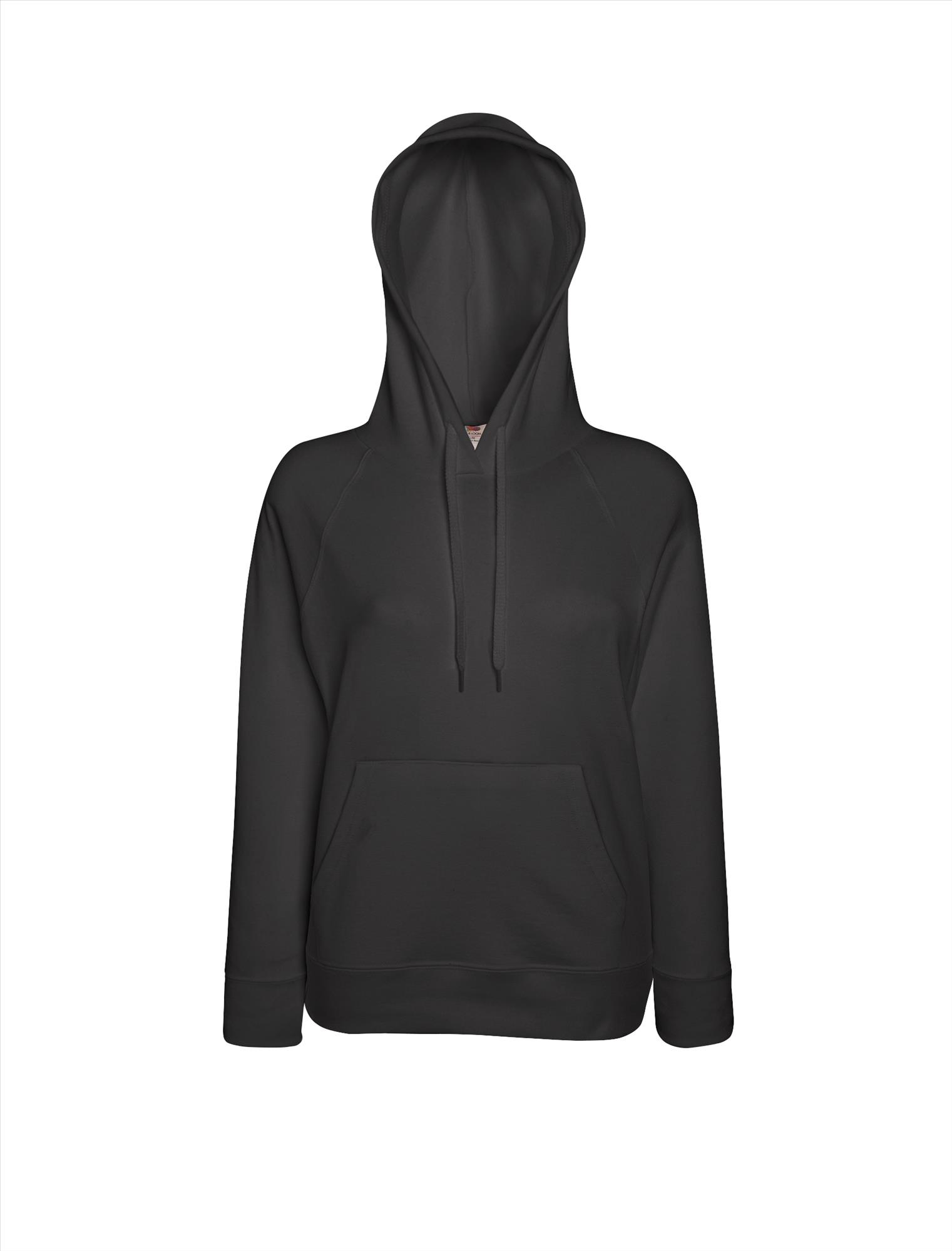 Budget dames hoodie light graphite