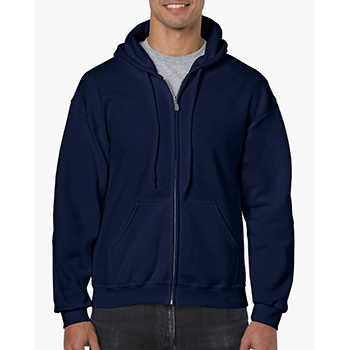 Heavy blend Full Zip Hooded Sweatshirt navy