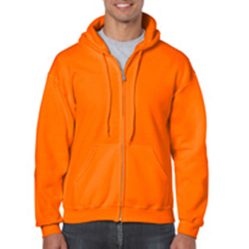 Heavy blend Full Zip Hooded Sweatshirt oranje
