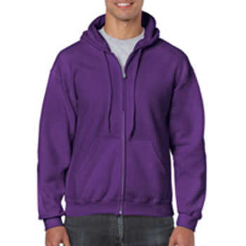 Heavy blend Full Zip Hooded Sweatshirt paars