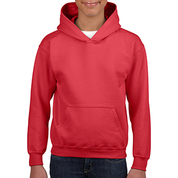 Heavy blend Kid's Hooded Sweatshirt rood