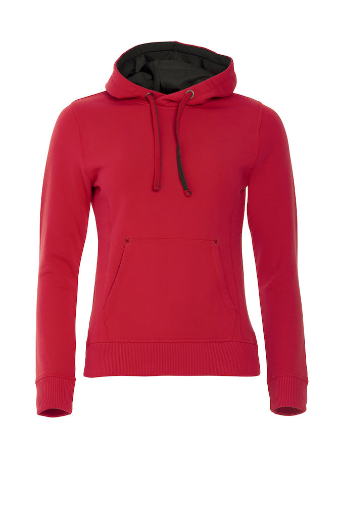 Classic dames hoodie rood
