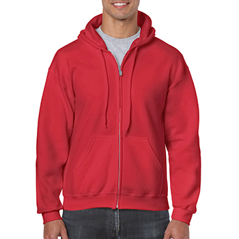 Heavy blend Full Zip Hooded Sweatshirt rood
