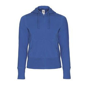 Hooded Full Zip Women Royal blue