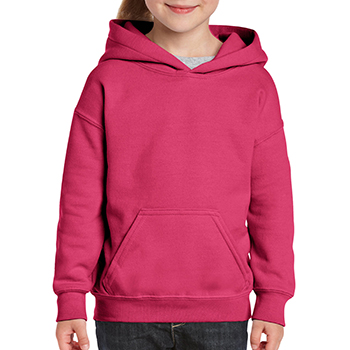 Heavy blend Kid's Hooded Sweatshirt roze