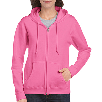 Heavy blend Ladie's Full Zip Hooded Sweatshirt