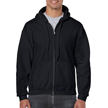 Heavy blend Full Zip Hooded Sweatshirt zwart