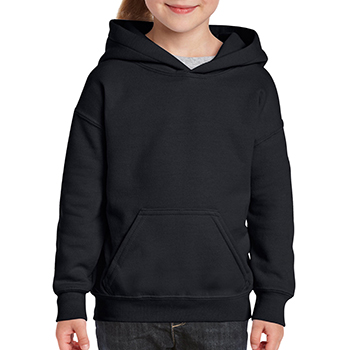 Heavy blend Kid's Hooded Sweatshirt zwart